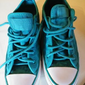 Teal converse womens size 6